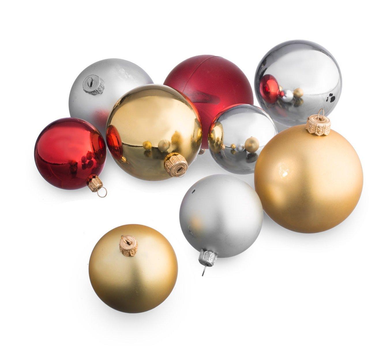 christbaumkugeln-Gold-Rot-Silber