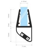 Vorschau: 2m Duschdichtung UKM04 magnetisch wasserabweisend Magnetdichtung UPS