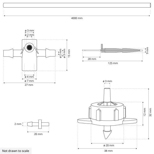 Bewässerungssystem Micro-Drip-System Tropfbewässerung Bewässerungsset 4