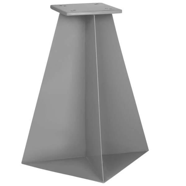 Bodenhülse mit Montageplatte für Ampelschirm Sonnenschirm RAL 9023 Perldunkelgrau