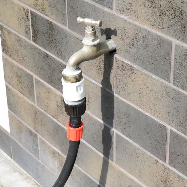 Anschlusssatz für Bewässerungssystem - Schnellanschluss und Verbindungsstück für Verlegerohr/Tropfsc