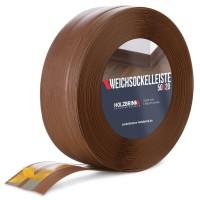 Vorschau: Weichsockelleiste selbstklebend EICHE DUNKEL Knickleiste Profil 50x20mm