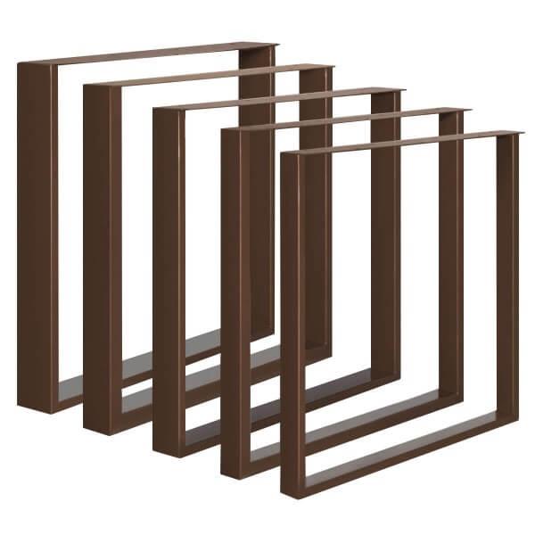 Design Tischkufen aus Vierkantprofilen 60x30 mm und Flacheisen 3 mm, Tischgestell HLT-02-D