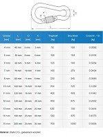 Vorschau: Karabinerhaken mit Schraubsicherung 15x200mm DIN 5299D