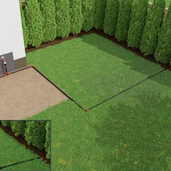 Bewässerungssystem Tropfbewässerung für Thuja Hecken