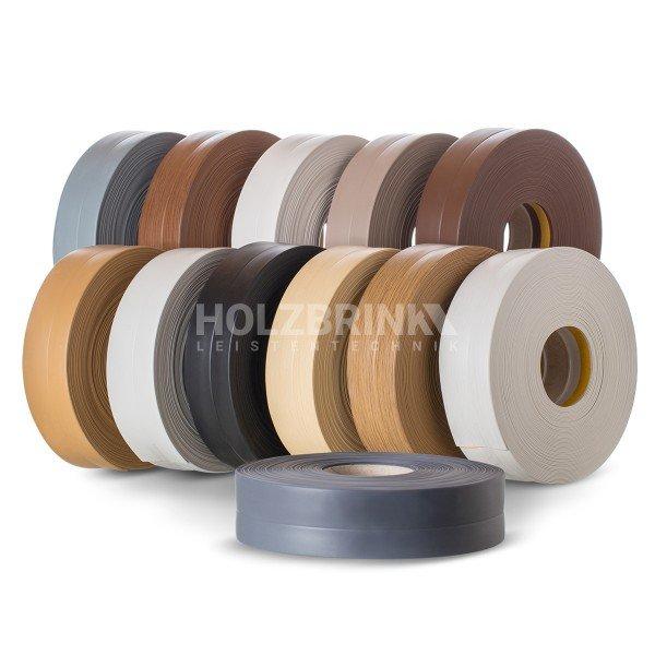 Weichsockelleiste selbstklebend PVC Leiste 25m 32x23mm Sockelleiste Abdeckleiste Kunststoffleiste