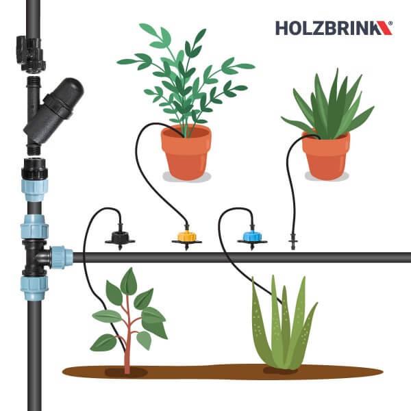 Bewässerungssystem Micro-Drip-System Tropfbewässerung Bewässerungsset 6