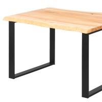 Vorschau: LAMO Manufaktur Schreibtisch Esstisch mit Baumkante 120x80x76 cm
