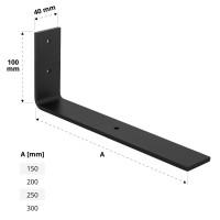 Vorschau: Stabile Regalhalterung aus Metall, DIY-Wandregal HLR-L