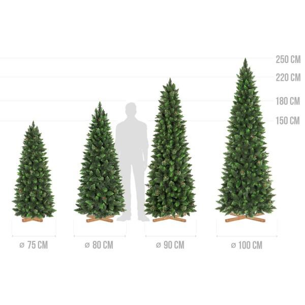 künstlicher Weihnachtsbaum SLIM Kiefer Natur-Grün