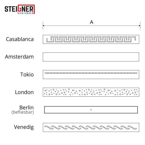 Ablaufrinne SDR90 Siphon Rinne Duschrinne Edelstahl Abflussrinne Duschelement