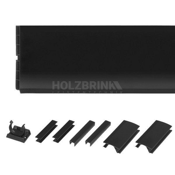 Sockelblende Küche Sockelleiste - SCHWARZ Hochglanz - HBK Küchensockel Sockelprofil Sockelabdichtung