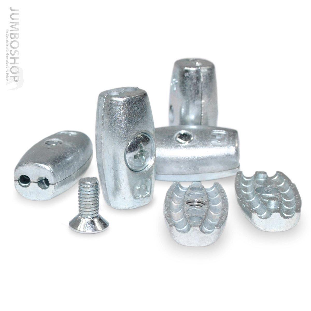 Drahtseilklemme EIFORM 6mm Seilklemmen Aluminium | Eiform Klemmen ...