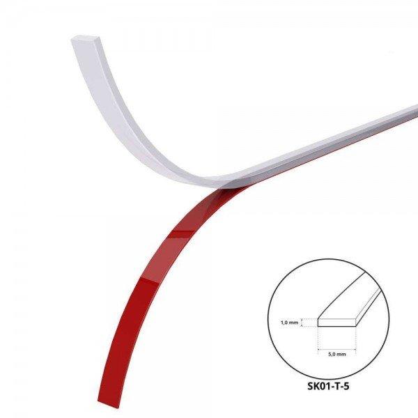 Funkenschutzplatte Dichtlippe Glasplatte 1mm x 5mm Dichtband Dichtung Acrylschaum TRANSPARENT