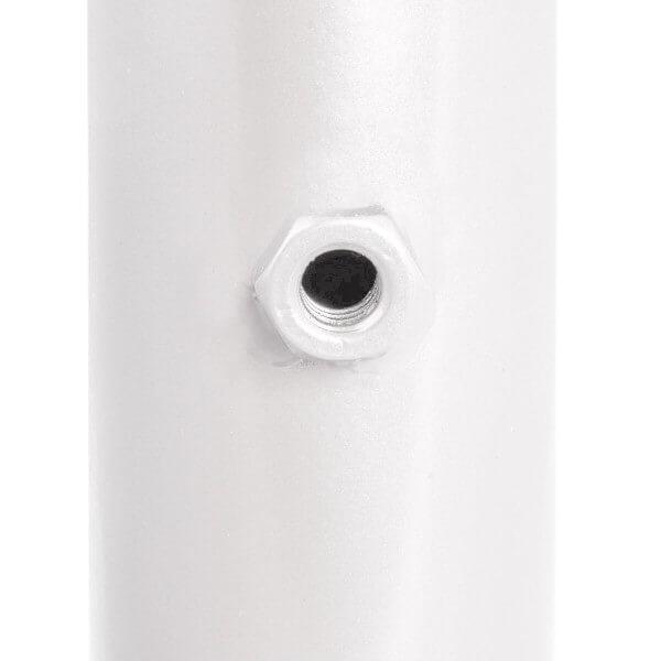 Sonnenschirmständer für Bodenhülse Innendurchmesser 29 mm Verkehrsweiss