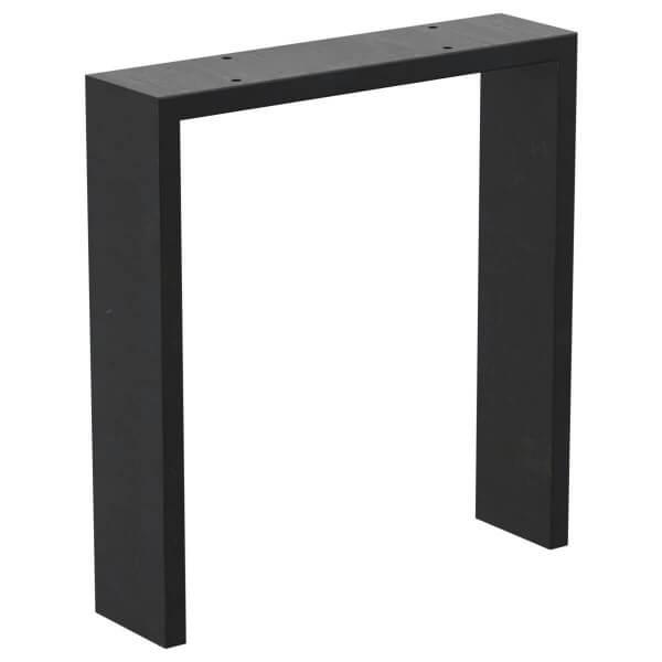 Design Tischkufen N-Form, Vierkantprofile 100x20 mm, Tischgestell Tischbeine Vintage HLT-11-A
