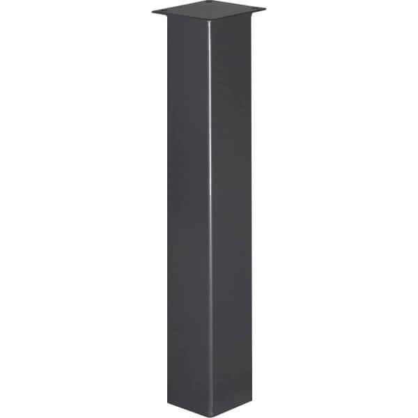 Tischbein Eckig, Möbelfuß aus Stahl, Quadratrohr 80x80 mm, Industriedesign, HLT-14B-J