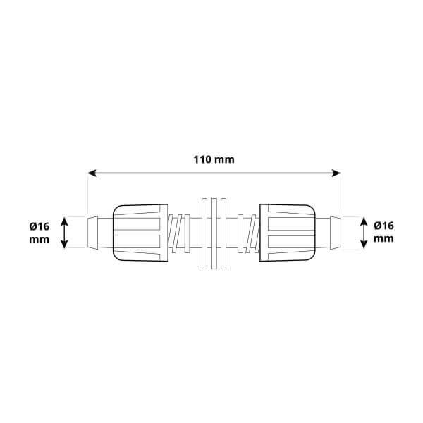 Verbindungsstück 5/8 x 5/8 Zoll Rohrverbinder für Rohrverlängerung von Verlegerohr