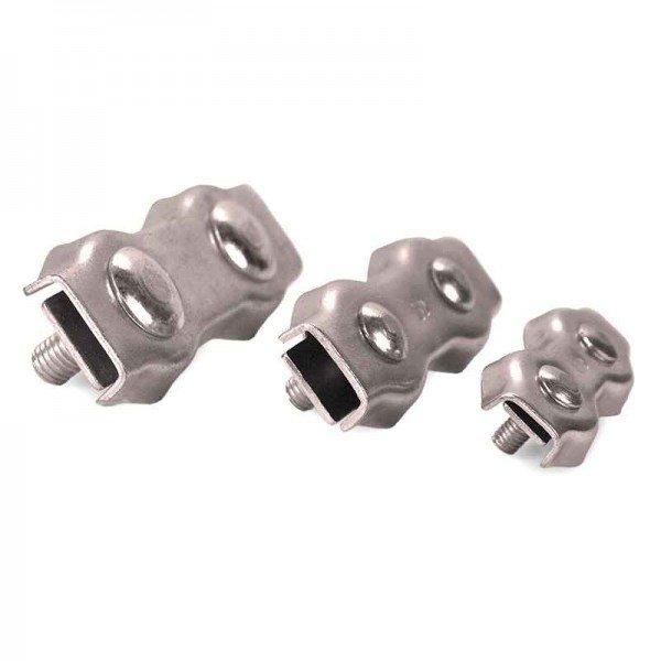 Duplexklemme 2mm Drahtseilklemme verzinkt Seilklemme | Duplex ...