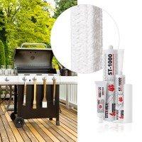 Vorschau: Dichtschnur Keramikfaser SKD01 Grill Ofen und Smoker abdichten + Montagekleber