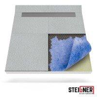 Vorschau: Duschelement mit Duschrinne 2-seitiges Gefälle Duschboard befliesbar inkl. Dichtfolie