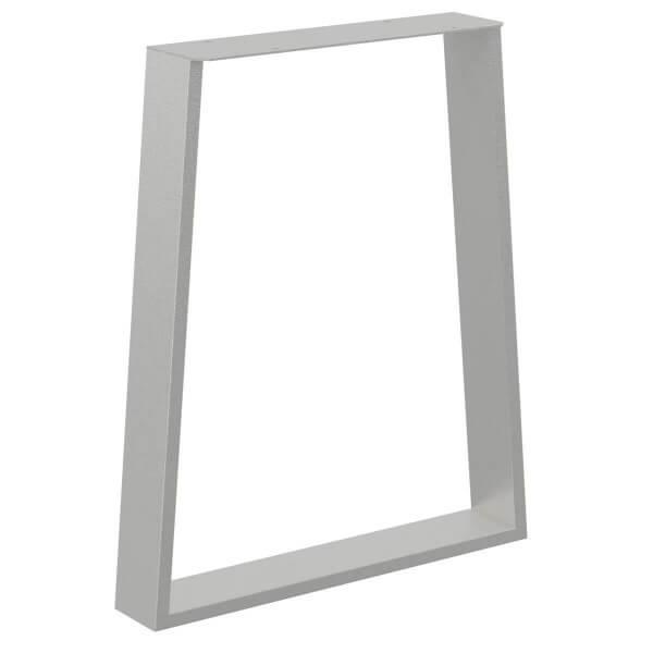 Design Tischkufen Trapez, Vierkantprofile 80x20 mm, trapezförmiges Tischgestell, Tischbeine HLT-17-C