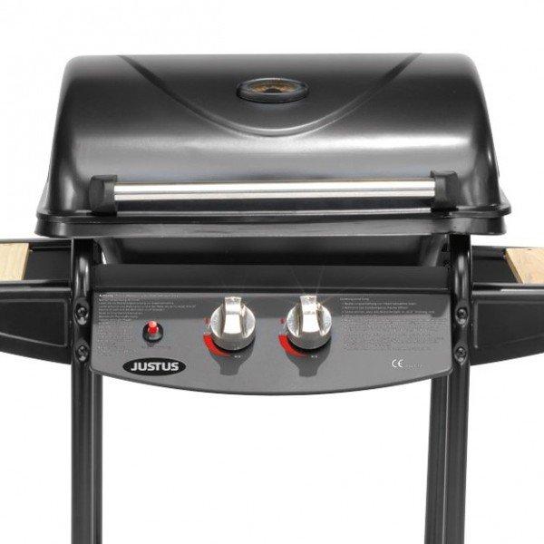 JUSTUS Olymp Gasgrill BBQ Gas Grill 2 Brenner Stahl / Holz