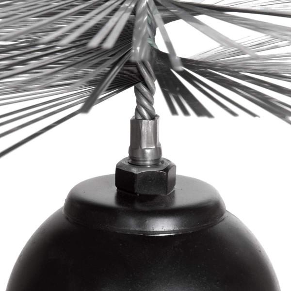 Profi-Set: 1m Seil + Kaminbesen + Zuggewicht + Montagezubehör