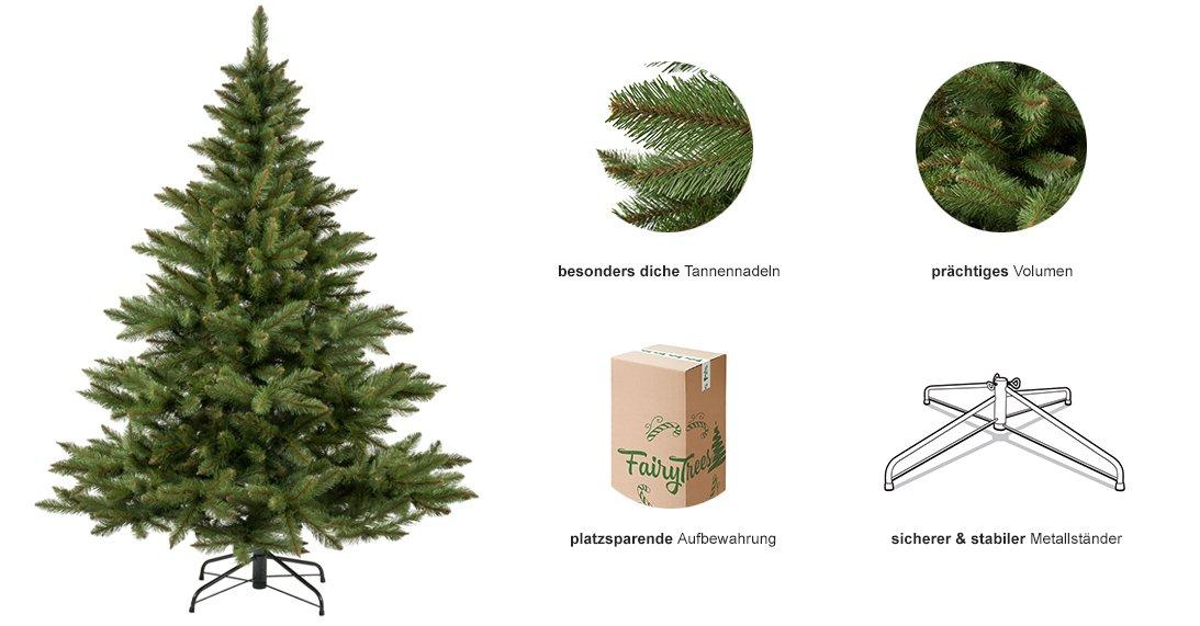 weihnachtsbaum nordmanntanne k nstlicher tannenbaum. Black Bedroom Furniture Sets. Home Design Ideas