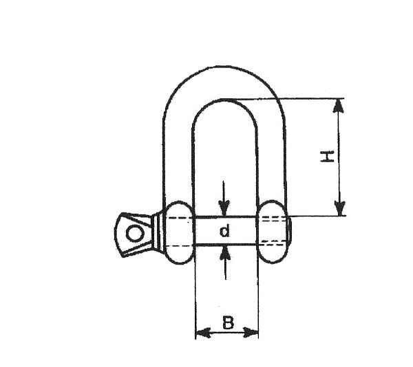 1x Schäkel 22mm verzinkt 1500kg Tragkraft