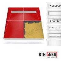 Vorschau: Duschelement mit Duschrinne MINERAL PROFI 4-seitiges Gefälle Duschboard befliesbar