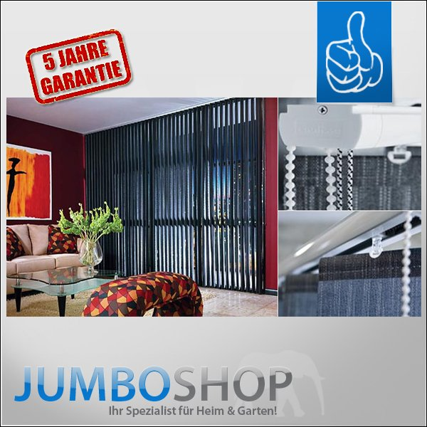 lamellenvorhang jumbo shop. Black Bedroom Furniture Sets. Home Design Ideas
