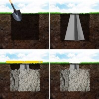 Vorschau: Bodenhülse mit Montageplatte für Ampelschirm Sonnenschirm RAL 9016 Verkehrsweiß