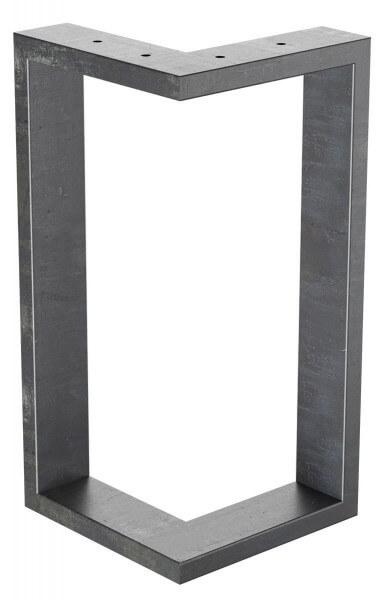 Design Tischkufen aus Vierkantprofilen 60x20 mm, V-Form, L-Form, Tischgestell, Tischbeine HLT-09-E