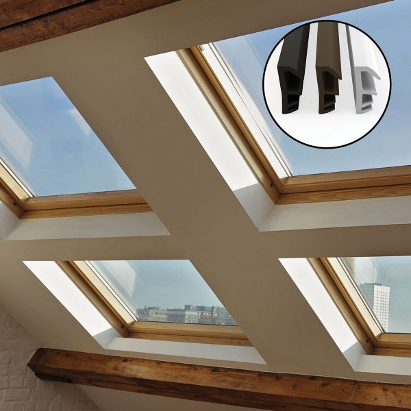 Flügelfalzdichtung für Fenster und Tür SFD-14 Weiss