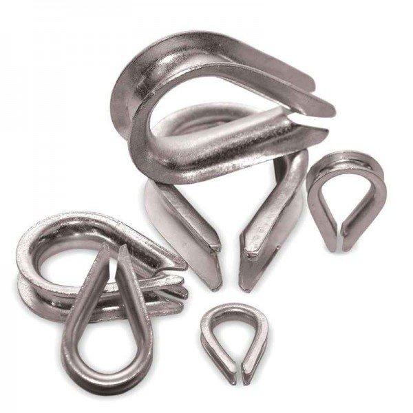 Kauschen 2mm Drahtseil Kausche Seilöse Seil mit Öse Stahlseil
