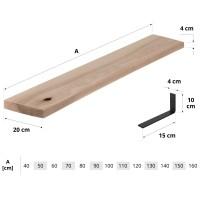 Vorschau: Wandregal aus Holz mit gerader Kante inkl. Regalwinkel
