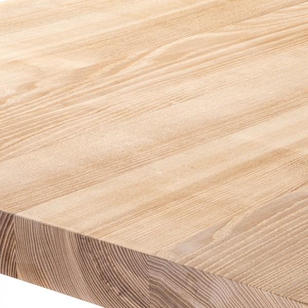Wandregal aus Holz mit gerader Kante inkl. Regalwinkel
