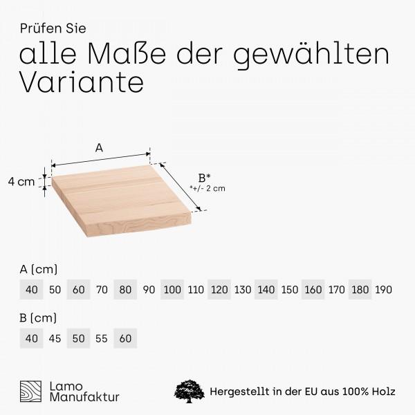 Waschtischplatte Holzplatte für Aufsatzwaschbecken