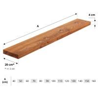 Vorschau: Wandregal aus Holz mit gerader Kante