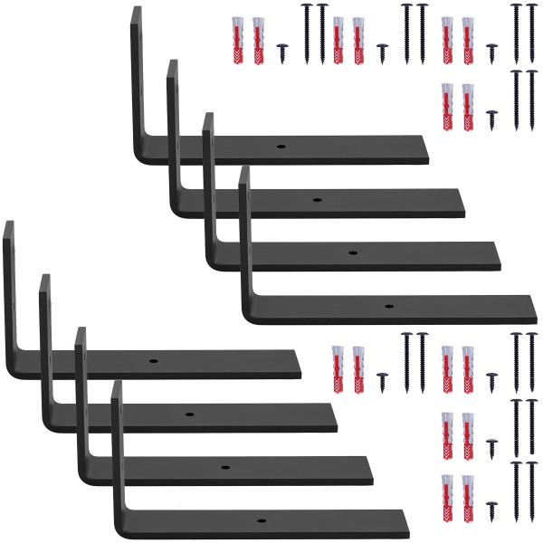 Stabile Regalhalterung aus Metall, DIY-Wandregal HLR-L