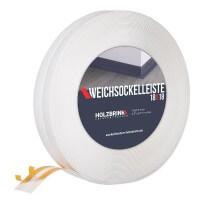 Vorschau: Weichsockelleiste WEISS Knickleiste Profil 18x18mm