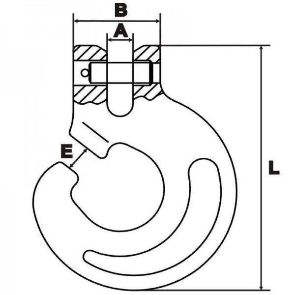 Schlitzhaken 8mm Chokerkette Schlinghaken Rückekette