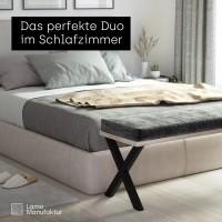 Vorschau: 2 Tischbeine für Sitzbank, Couchtisch, Beistelltisch, Höhe 43 cm