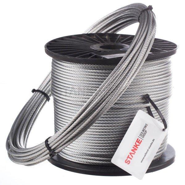 12mm Stahlseil verzinkt Drahtseil EN 12385-4 Stahlseile