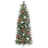 k nstlicher weihnachtsbaum slim kiefer natur weiss beschneit jumbo shop. Black Bedroom Furniture Sets. Home Design Ideas