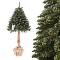 Vorschau: Künstlicher Weihnachtsbaum im Topf FICHTE NATURSTAMM grün