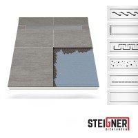 Vorschau: Duschelement mit Duschrinne MINERAL PLUS 2-seitiges Gefälle Duschboard befliesbar