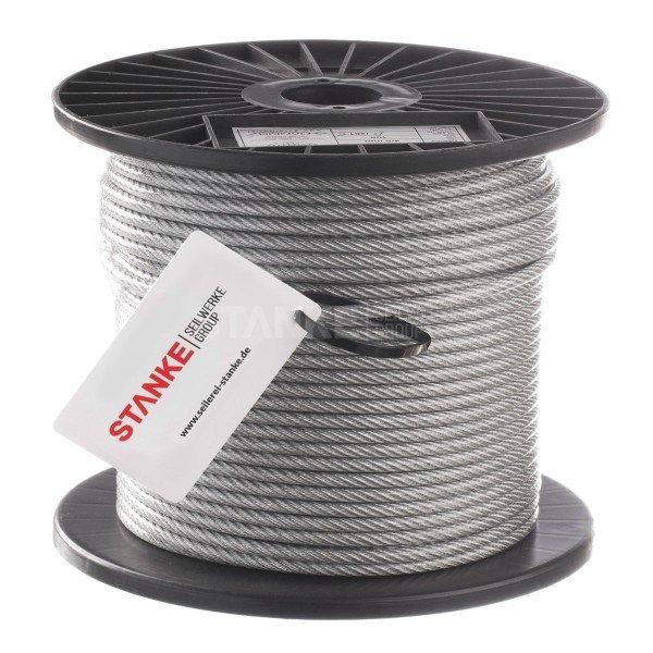 PVC Stahlseil 6mm (4mm Draht + 2mm PVC) 6X7 Drahtseil PVC ummantelt