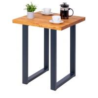 Vorschau: Kompakter Küchentisch mit gerader Tischkante 60x60x76 cm (LxBxH)
